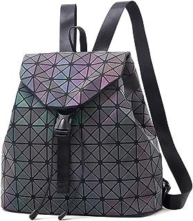 Nevenka Laptop Rucksack Geometrisch für Damen Holographisch Outdoor Rucksack Mädchen mit Verstellbare Schultergurte für Sc...