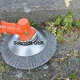 Schmidt GbR ! Profi ! Unkrautbürste Wildkrautbürste MOTORSENSE 25,4 x 200 mm Hohe Standfestigkeit - sehr robust - leichte Montage Weich