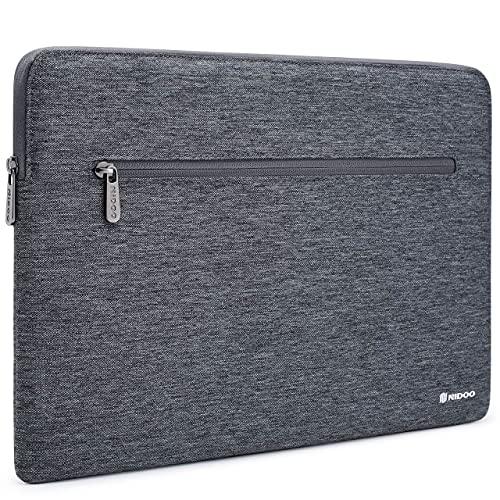 NIDOO 14 Pollici Custodia Sleeve Laptop Borsa Case Notebook PC Protettiva Portatile Custodie Morbide Tablet Impermeabile per 13.5' Microsoft Surface Book 2 3/14' Lenovo Yoga 530/ThinkPad T495s, Grigio