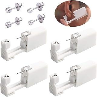 Juego de 4 piercings desechables de seguridad para la oreja, con 4 piercings