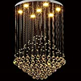 Amos Chandelier Crystal Chandelier Light Cristales - 50 * 80 Cm Lámparas Duplex Lámpara de Cristal Redonda LED Sala de Estar Comedor Dormitorio Luces