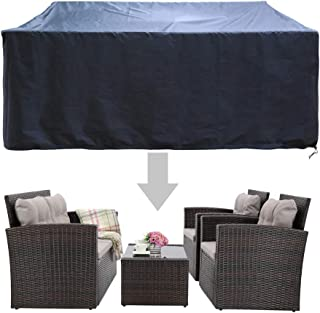 HAPLIFE Patio Furniture Set Covers Outdoor Conversation Set Covers Sectional Garden Sofa Covers Chair Loveseat Covers Waterproof Dust Protective