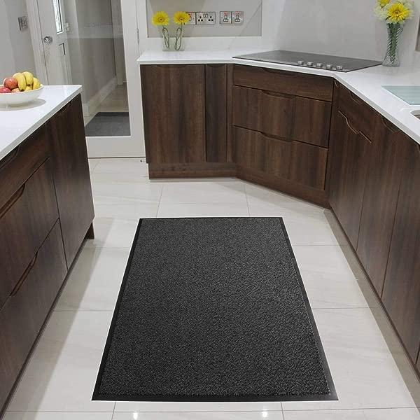 Grey Non Skid Washable Dirt Stopper Kitchen Hallway Mats 3 X 5
