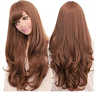1pc Women's Long Hair Wig Long Wavy Best for Cosplay Hair With Oblique Bangs