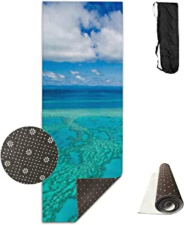 Yuejh Yoga Mat Travel Australia Great Barrier Reef Coral Non-Slip Yoga Mat Exercise Mat Fitness Pad for Sport Stretching Pilates Meditation 71 X24 Inch Yoga Equipment for Women