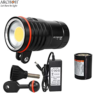 ARCHON WM66 DM60 COB Diving Video Light max 12,000 Lumens Underwater dive spotlight 100 meter waterproof with battery pack, charging cable