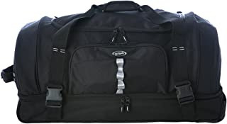 "Olympia Luggage 30"" Rollling Duffle,Black,One Size"
