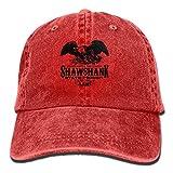 PYH0kox Shawshank Prison - Novelty Jail Movie Unisex Flat Bill Hip Hop Cap Baseball Hat Head-wear Cotton Trucker Hats Red