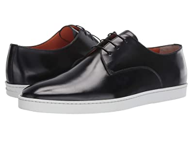 Santoni Doyle Atlantis Casual Lace-Up Sneaker (Black) Men