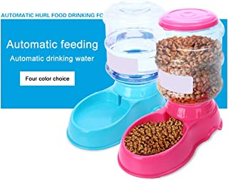 Kamiye 3.5L Plastic Pet Drinkers Cat Dog Automatic Feeder Drinking Animal Pet Food Container Water Bowl