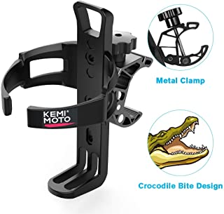 kemimoto ATV Cup Holder Motorcycle Drink Holder Bike Water Bottle Holder with Metal Clamp Compatible with Polaris Sportsma...