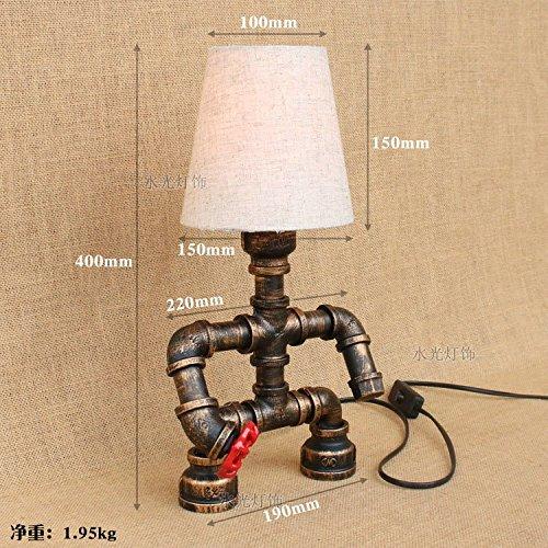 IJzer Jugendstil decor bedkant persoonlijkheid creatieve studie buis robotlampen