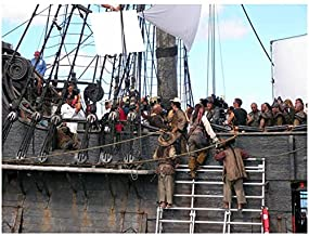 Pirates of the Caribbean: Dead Man's Chest 8 x 10 Photo Cast and Crew on Ship kn