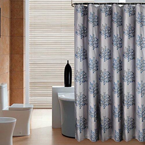 Rideaux de douche Salle de bains imperméable à l'eau moisissure épaissie rideau de douche chanceux arbre salle de bains polyester douche rideau salle de bain porte rideau crochet Rideaux de douche de haute qualité