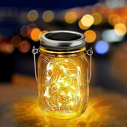 Amazon.es: tarros cristal - Lámparas solares / Iluminación de ...
