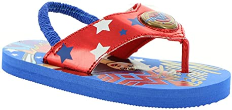 DC Comics Wonder Woman Light-Up Flip Flop Sandals for Girls