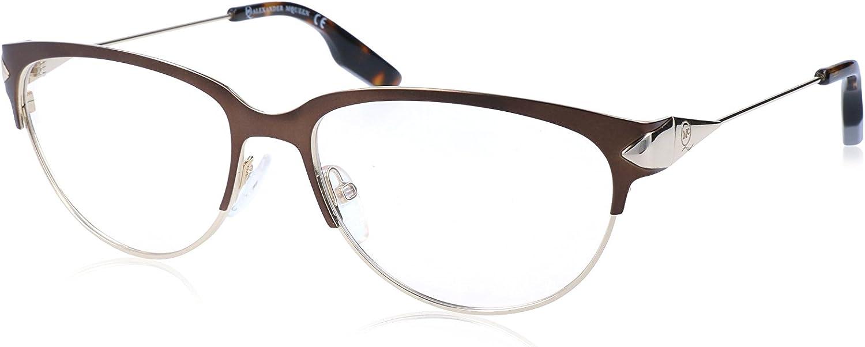 Alexander McQueen MCQ 0015 3QZ Matte Bronze gold Cat Eye Eyeglasses