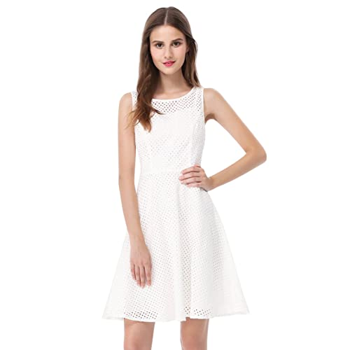 3563f39a344 Alisa Pan Womens Fit and Flare Short Simple Summer Dress 5504