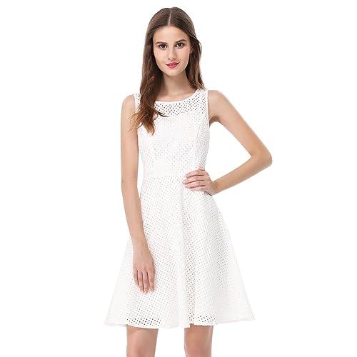 576977efe Alisa Pan Womens Fit and Flare Short Simple Summer Dress 5504