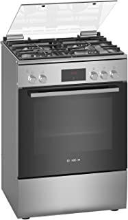 Bosch Serie | 4, 60 cm Free Standing Full Gas Cooker, Stainless Steel - HGQ320I50M, 1 Year Warranty