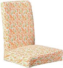 Dosige Fundas elásticas para sillas,Cubierta de Silla de Comedor Moderna Simple,Cubierta de la Silla para Hotel Restaurante Oficina,Cuatro Estaciones Adecuado Size 46cm*55cm (Naranja + Verde + Amor)
