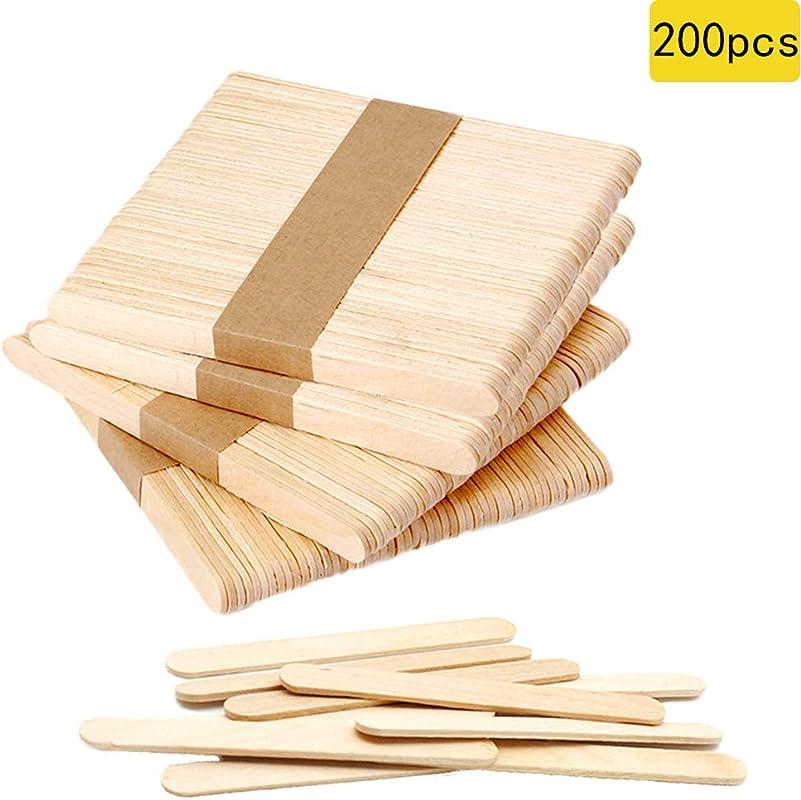 200 PCS Craft Sticks Popsicle Ice Pop Ice Cream Sticks Natural Wooden 4 1 2 Length Treat Sticks Great For DIY Craft Creative Designs