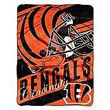 Officially Licensed NFL Cincinnati Bengals 'Deep Slant' Micro Raschel Throw Blanket, 46' x 60', Multi Color