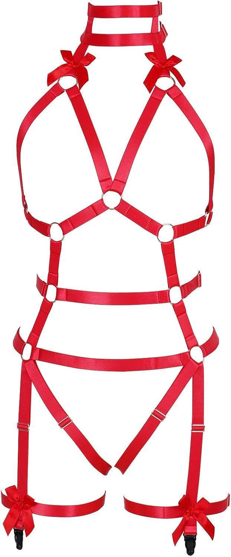 Garter belt set Full body harness for women Lingerie cage bra Halloween Chest strap Gothic Plus size Festival rave Punk