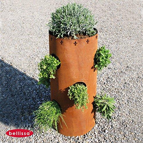 bellissa Herbes Tour Ronde 40 x 83 cm Corten Lilieø 91000