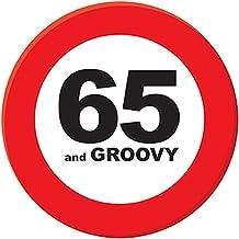 confettery–Chapa de Pin Groovy, regalo de cumpleaños 65años, 15cm, multicolor
