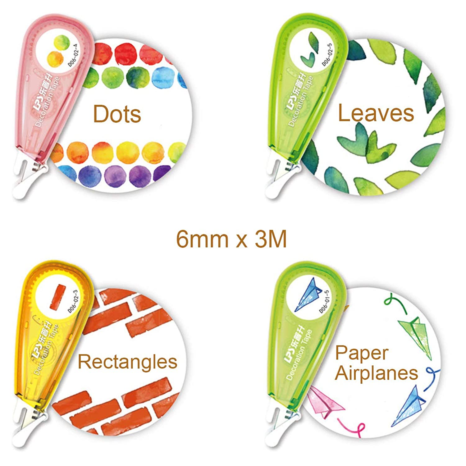 Allydrew 71716c Novelty, Decorative DIY Stationery Supplies for Home Office School, Shapes Sticker Machine Pens,