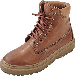 BRUNELLO CUCINELLI Chaussures Homme Marron 100% Cuir Bottes 40