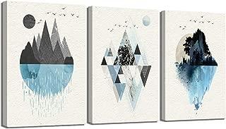 Best blue geometric canvas art Reviews