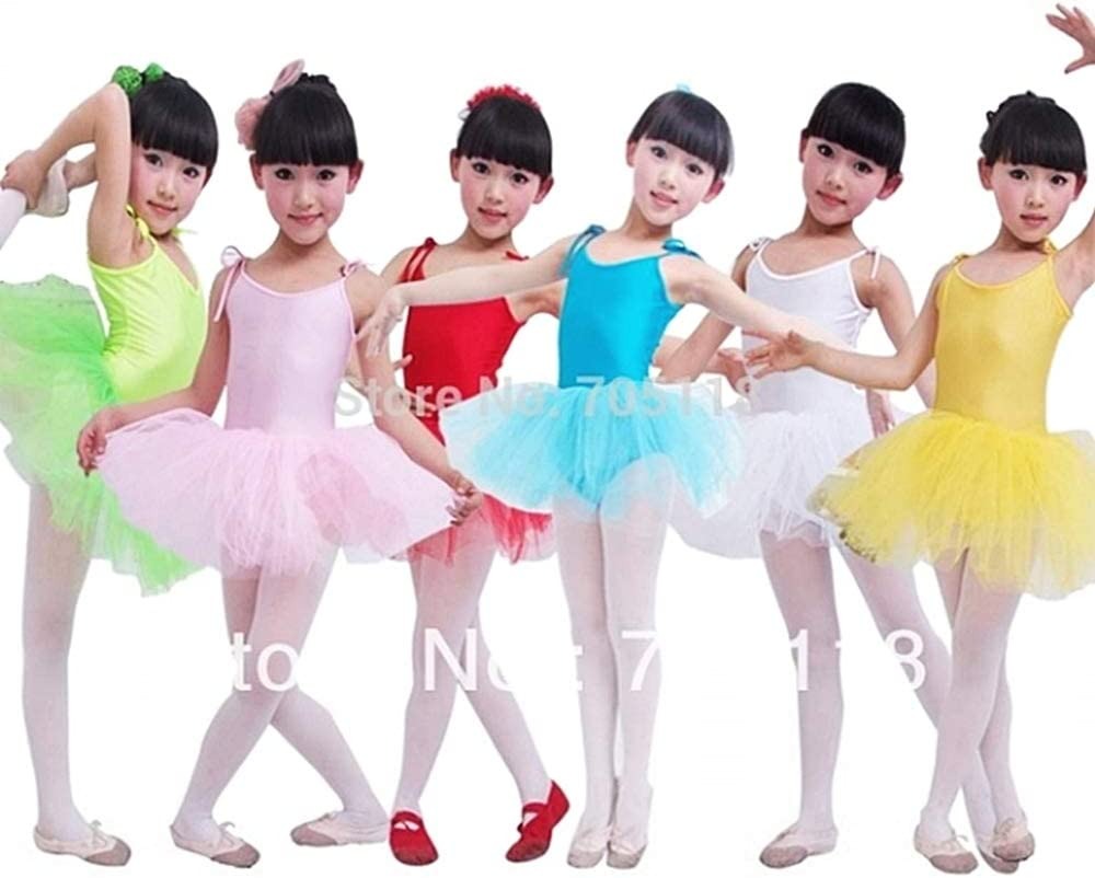 Bianco e Rosa 3 Fili Tulle Gonna tut/ù Danza Classica Bambina Balletto Body Ballerina Bimba Bretelle Regolabili Idea Regalo Natale e Compleanno