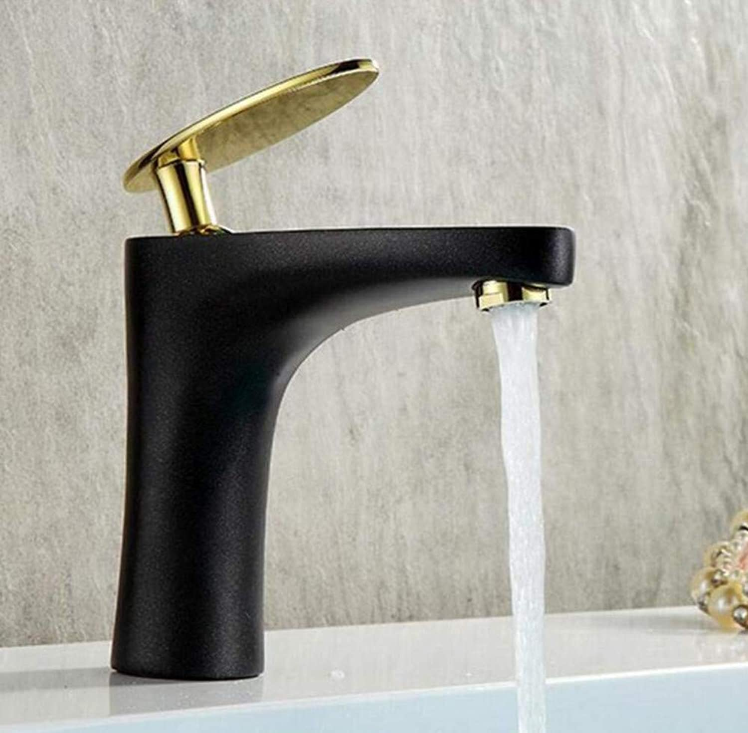 Kitchen Brass Hot and Cold Water Faucet Washbasin Mixer White Painting Basin Sink Mixer Tap Hot&Cold Leaves Faucet