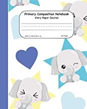Primary Composition Notebook Story Paper Journal: Cute Elephants With Hearts Dashed Mid Lined Pages For Alphabet Practice Along With Space For Drawing Pictures 8