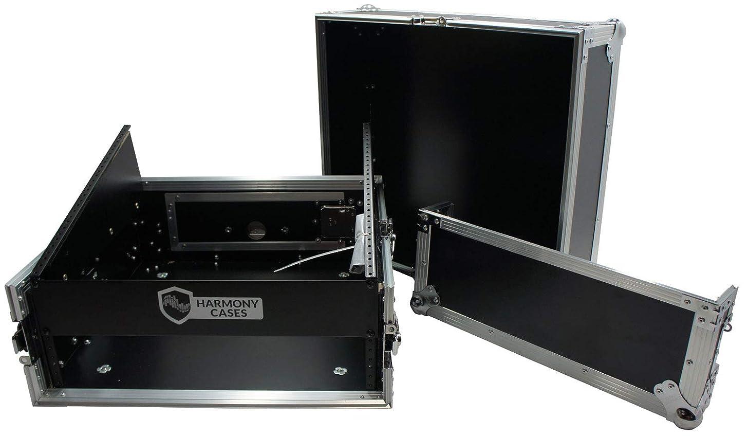 Harmony Case HCM2U DJ Pro Audio 10U Slant Top 4U Vertical Mixer Rack Case New