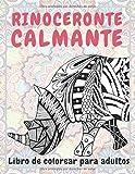 Rinoceronte calmante - Libro de colorear para adultos