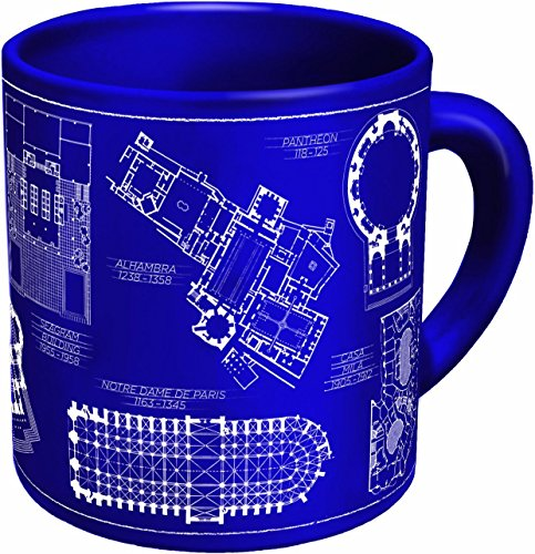 The Unemployed Philosophers Guild Architecture Coffee Mug - Architectural Drawings of Famous...