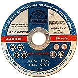 10 Stück Inox Trennscheibe für Stahl, Metall, Edelstahl 125 x 1,6 x 22.23 mm T41 A60 RBF