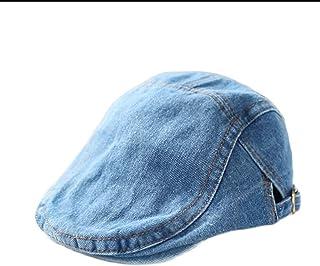 JJSPP Denim Kids Hat for Boys Girls Classic Vintage Adjustable Baby Hat Autumn Winter Kids Beret Hat (Size : Small)