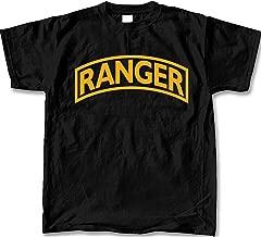 United States Army Ranger Mens SS T-shirt-Black