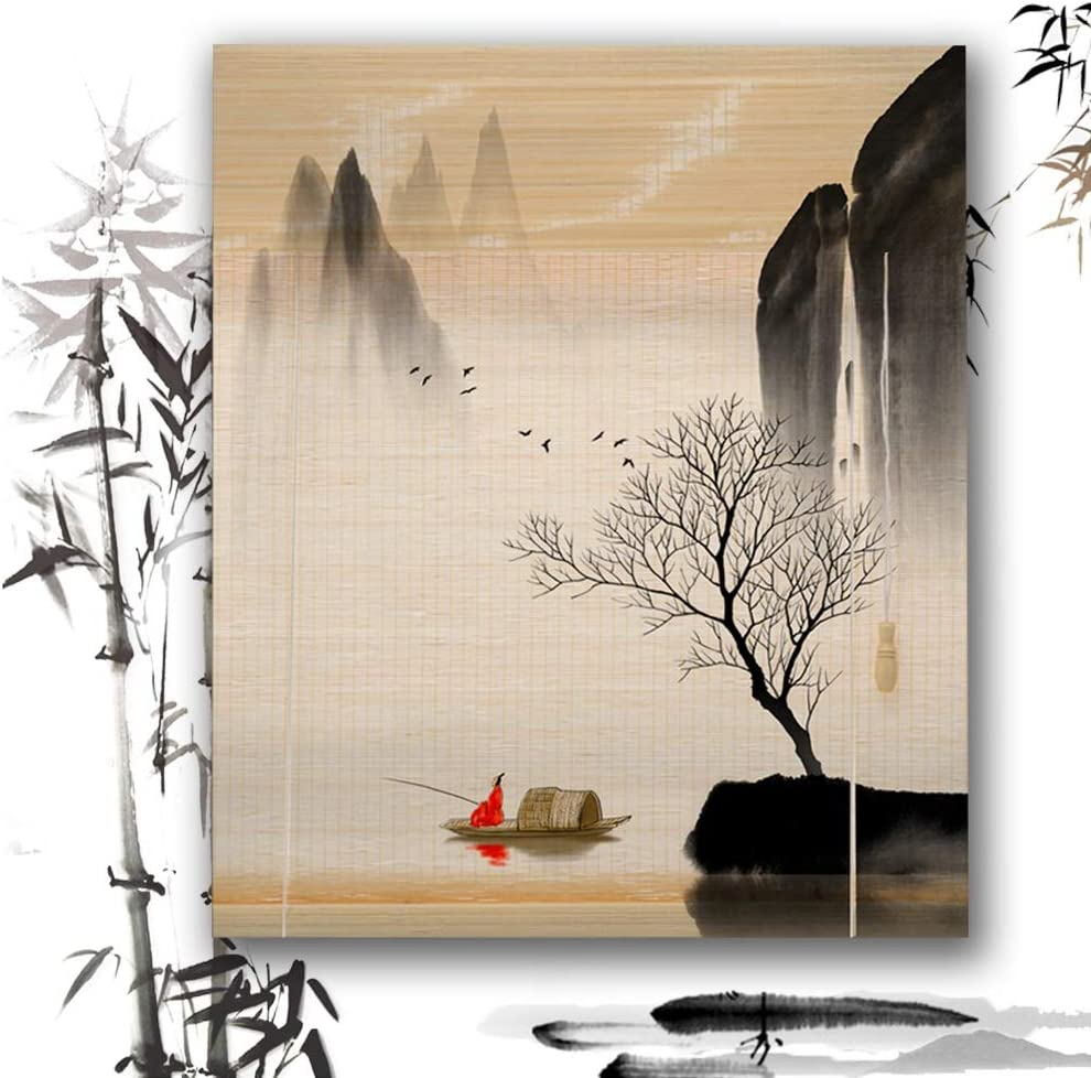 JUANJUAN Roller Blind Bamboo Award Shade Up Curtain Blinds Roll Rapid rise Window