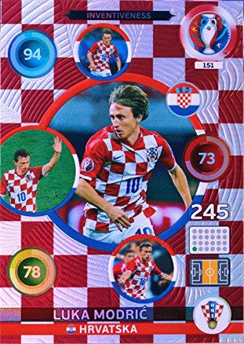 carte PANINI EURO 2016 #151 Luka Modric