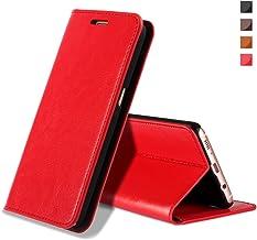 EATCYE Funda Galaxy S8, Cuero Genuino Prima Vintage Carcasa