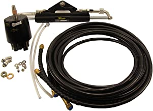 Woqi ZA0300 Outboard Hydraulic Steering Kit with Helm Pump, Cylinder, Tubing