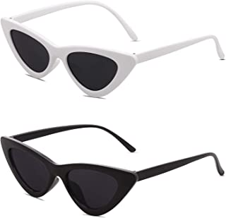 SOJOS Retro Vintage Narrow Cat Eye Sunglasses for women...