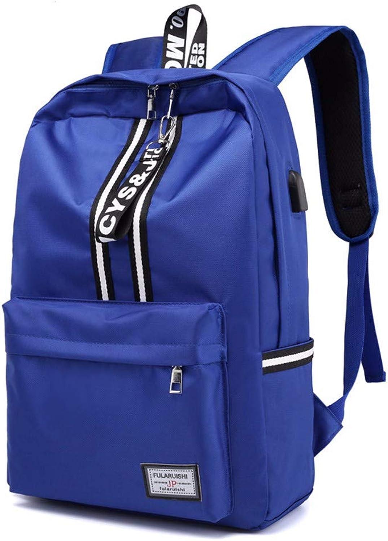 Schultasche Studentin Rucksack Street Trend Reisetasche, Blau, B