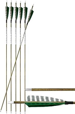 Spine 500 /ø 5,9 mm 78,7 cm MEJOSER 30 Zoll Pfeile f/ür bogenschie/ßen 6-er Carbonpfeil Holzopik 31