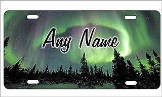 Northern Lights Aurora Borealis Personalisierte Neuheit vorne Nummernschild Deko Vanity Auto Tag
